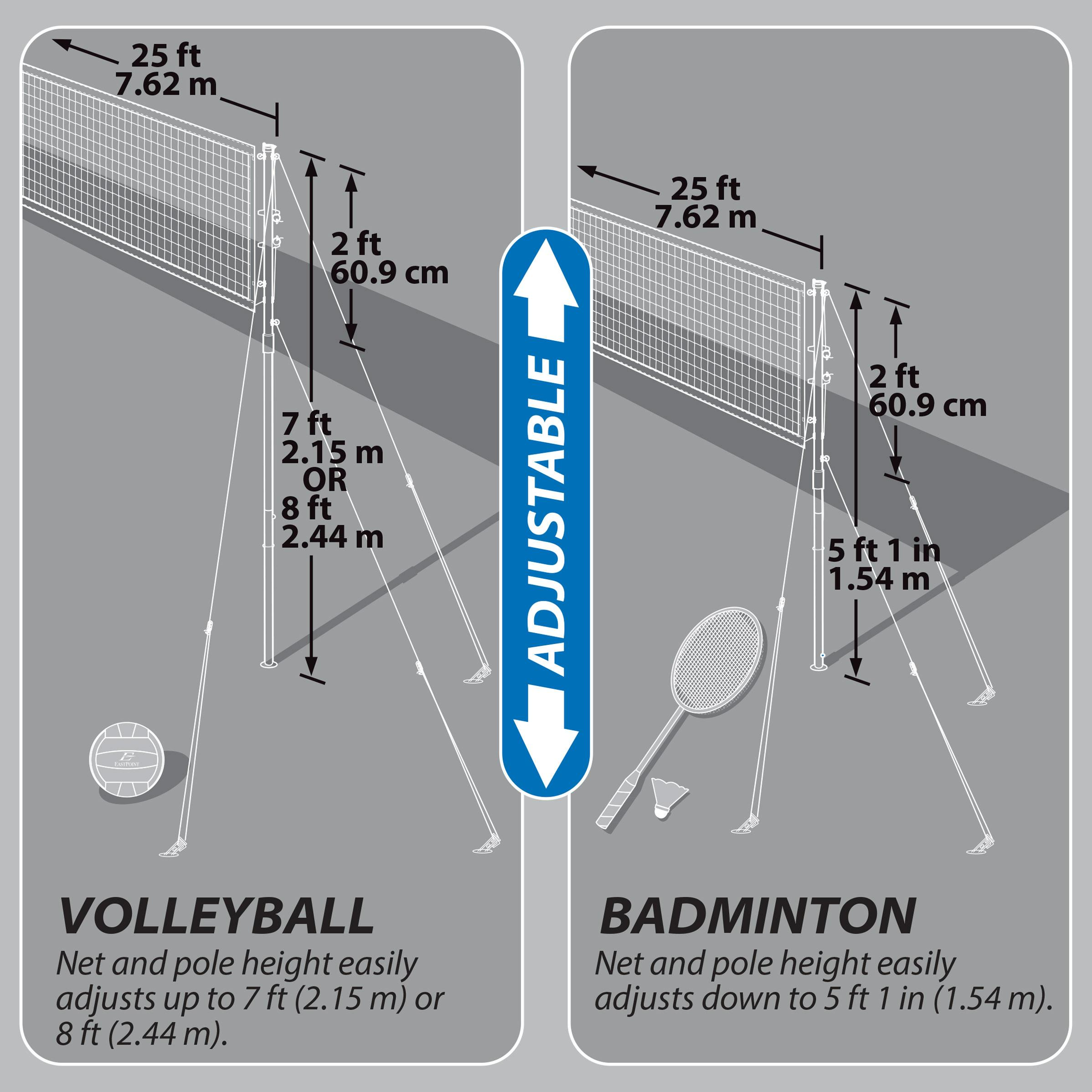 eastpoint volleyball net instructions
