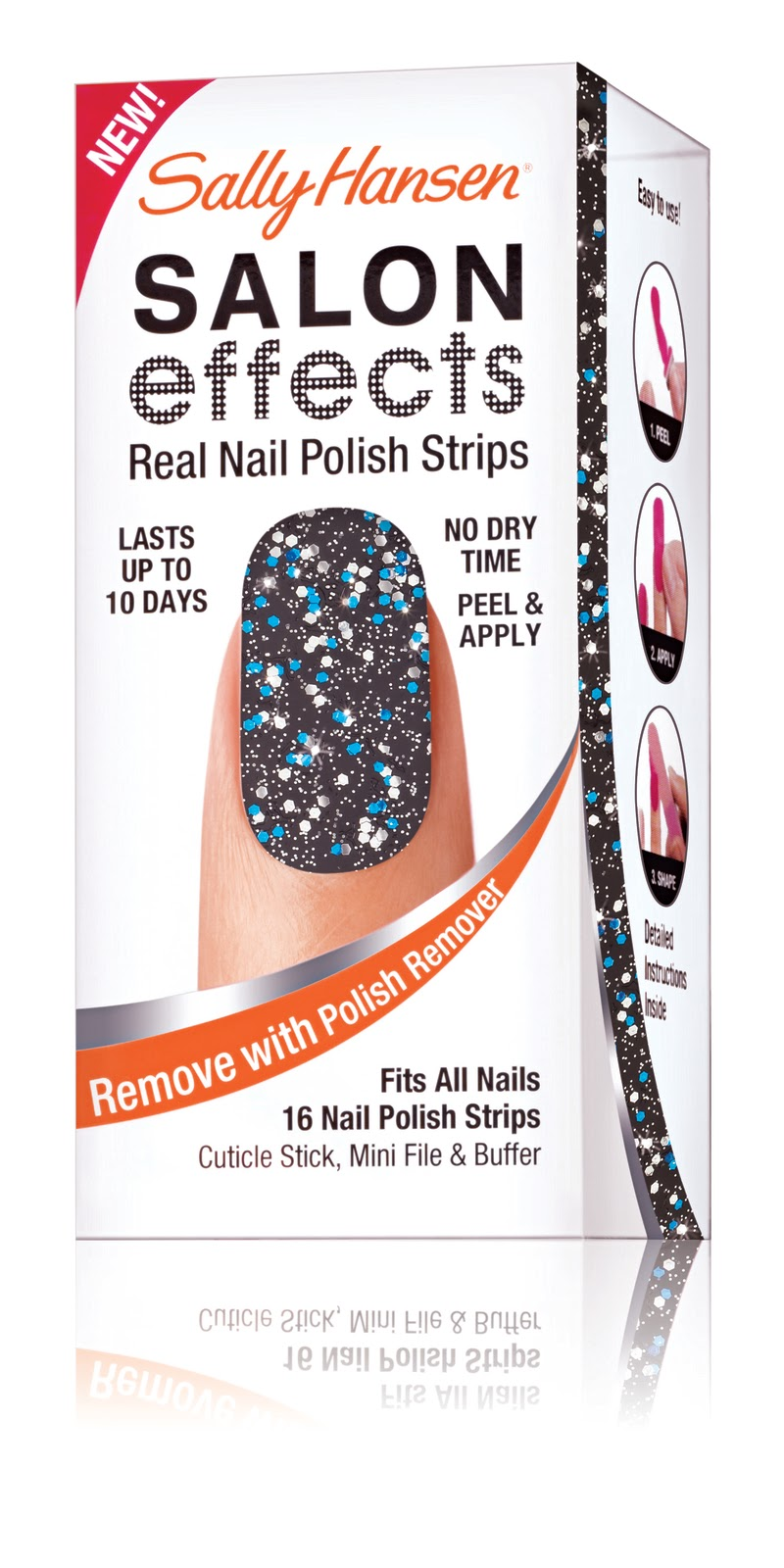 sally hansen nail art glitter kit instructions